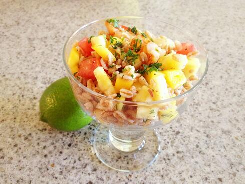Shrimp salad with honey lime vinaigrette