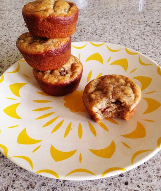 banana bread muffins gluten free