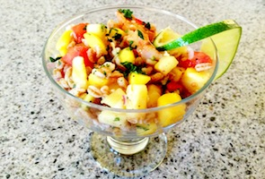 Tropical Shrimp Farro Salad