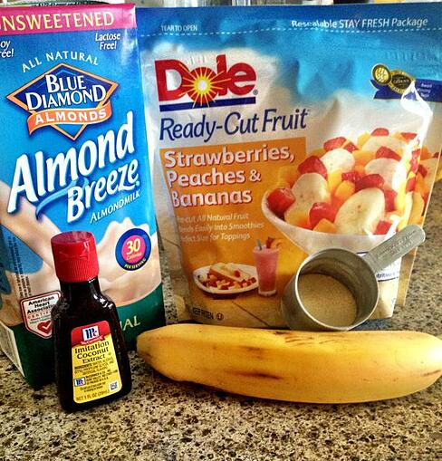 tropical banana smoothie ingredients